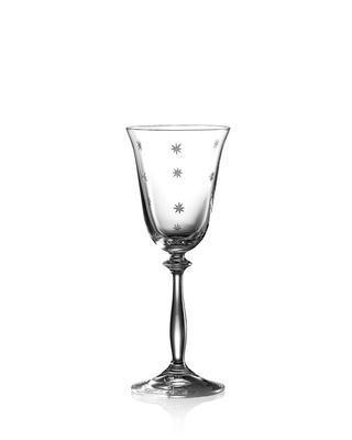 Bohemia Crystal Brúsené poháre na biele víno Angela Stardust 40600/185ml (set po 6 ks)