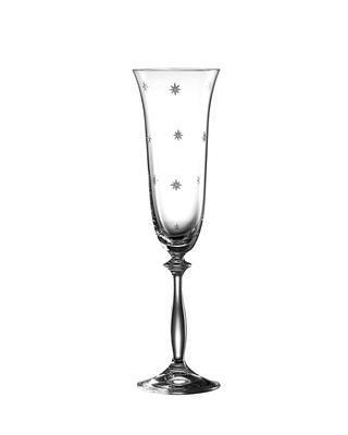 Bohemia Crystal Brúsené poháre na šampanské Angela Stardust 40600/190ml (set po 6ks)