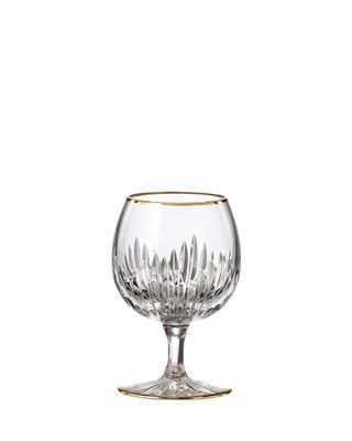Bohemia Crystal ručně broušené sklenice na brandy Prisma Line Gold 220ml (set po 2ks)