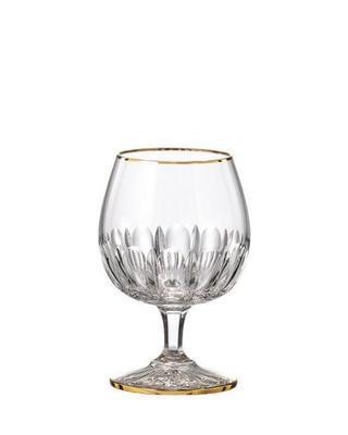 Bohemia Crystal ručně broušené sklenice na brandy Daisy Line Gold 220ml (set po 2ks)