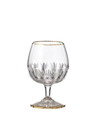 Bohemia Crystal ručne brúsené poháre na brandy Daisy Line Gold 150ml (set po 2ks)