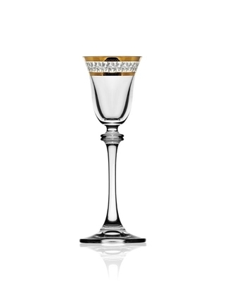 Bohemia Crystal Alexandra liqueur glass 60ml (set of 6pcs) - 1