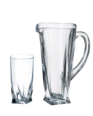 Bohemia Crystal nealko set Quadro (1 džbán + 6 pohárov na nealko)