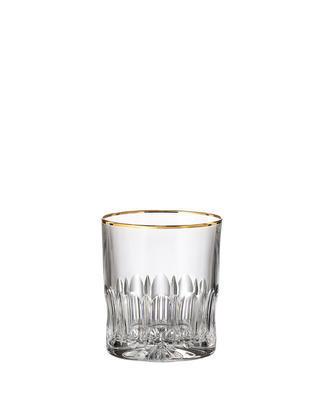Bohemia Crystal handgeschliffene Whiskygläser Daisy Line Gold 300 ml (Set mit 2 Stück)