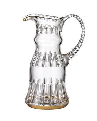 Bohemia Crystal ručně broušený džbán Daisy Line Gold 1200ml