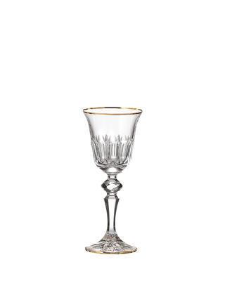 Bohemia Crystal hand cut liqueur glass Daisy Line Gold 60ml (set of 2pcs)
