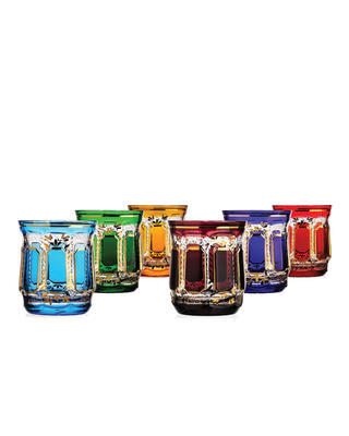 Bohemia Crystal Handmade and Hand Decorated Whiskey Tumblers 300ml (set of 6 pcs) - 1