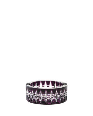Bohemia Crystal Brilliant Cut Ashtray 090mm - Purple