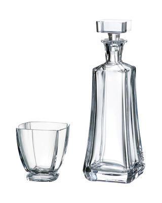 Bohemia Crystal Whiskyset Arezzo 99999/9/99S76/099 (1 Karaffe + 6 Gläser).