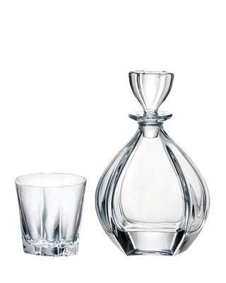 Bohemia Crystal Whisky set Laguna 99999/9/99K88/81 (set 1 karafa + 6 pohárov)