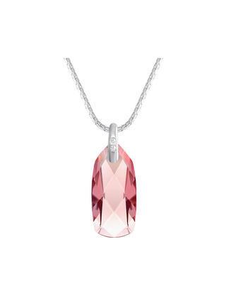 Bohemia Crystal Stříbrný přívěsek Polar Stone s  křišťálem Preciosa - růžový    - 1
