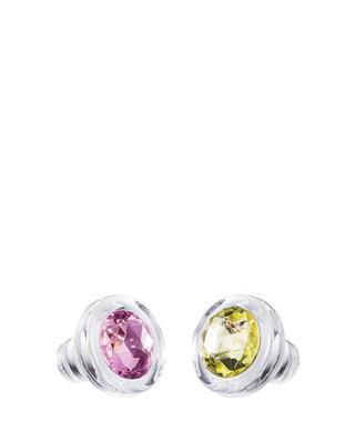 Bohemia Crystal Set mit Glasstöpseln, böhmisches Kristall Preciosa – rosa und gelb 1470 70