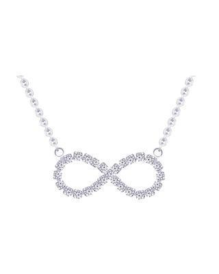 Bohemia Crystal Náhrdelník Infinity s křišťálovými kameny Preciosa 2044 00