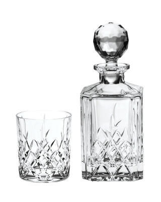 Bohemia Crystal Brixton Whiskey Set (1 decanter + 6 whiskey tumblers)