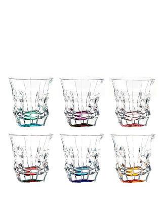 Bohemia Crystal Farebné poháre na whisky  Princess 29C52/0/47J06/300ml set po 6 ks)