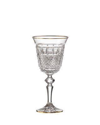 Bohemia Crystal ručne brúsené poháre na červené víno Felicie Line Gold (set po 2ks)