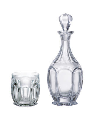 Bohemia Crystal Safari Whiskey Set (1 decanter + 2 whiskey tumblers)