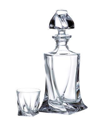 Bohemia Crystal Quadro Liqueur Set  (1 decanter + 6 tumblers) - 1