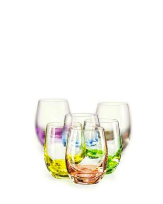 Bohemia Crystal Barevné sklenice na pálenku Rainbow 60ml (set po 6ks) - 1