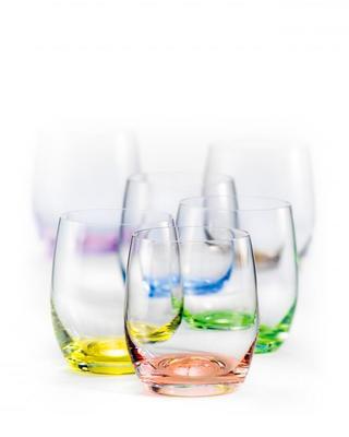 Bohemia Crystal Barevné sklenice na whisky Rainbow 25180/D4662/300ml (set po 6ks) - 1