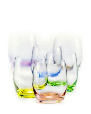 Bohemia Crystal Barevné sklenice na whisky Rainbow 300ml (set po 6ks) - 1