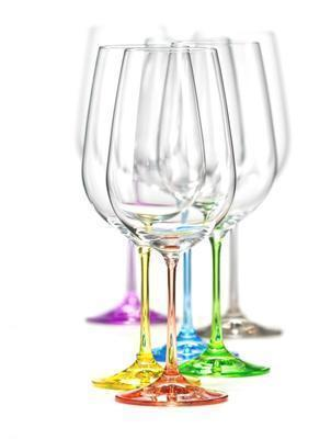 Bohemia Crystal Rainbow Wine Glasses 550ml (set of 6 pcs) - 1