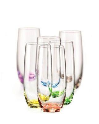 Bohemia Crystal Farbige Gläser Rainbow für alkoholfreie Getränke und Wasser 25180/D4662/350 ml (Set mit 6 Stück) - 1