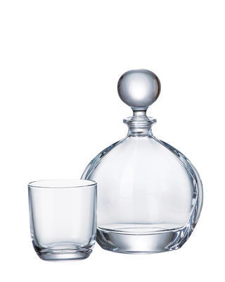 Bohemia Crystal Orbit Whiskey Set (1 decanter + 6 whiskey tumblers) - 1