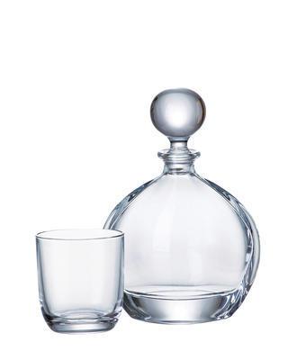 Bohemia Crystal Whisky set Orbit 99999/9/00000/783 whisky set (set 1 karafa + 6 pohárov) - 1