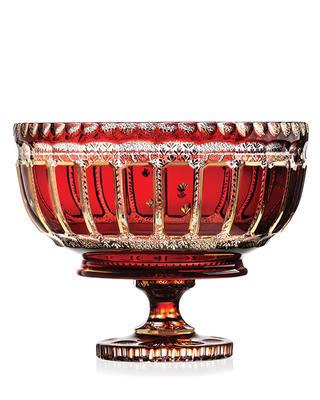 Bohemia Crystal Broušená mísa na noze 60020/GR/0002/350mm