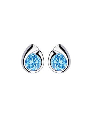 Bohemia Crystal stříbrné náušnice Wispy s kubickou zirkonií Preciosa, modré