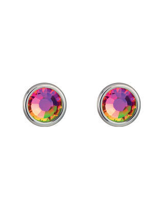 Bohemia Crystal Carlyn Surgical Steel Earrings with Preciosa Crystal - Vitrail Medium 7235 41 - 1