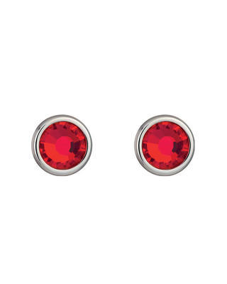 Bohemia Crystal Carlyn Surgical Steel Earrings with Preciosa Crystal  - Red 7235 57 - 1
