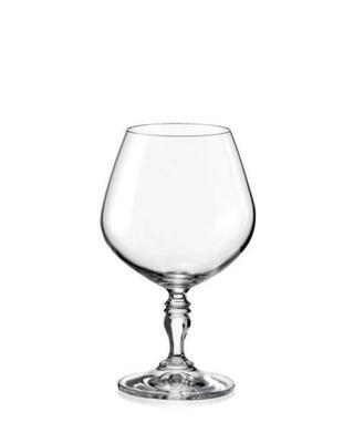Bohemia Crystal Brandy- und Cognacgläser Victoria 380 ml (Set mit 6 Stück)
