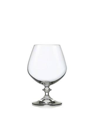 Bohemia Crystal Brandy- und Kognakgläser Angela 400 ml (Set mit 6 Stück)