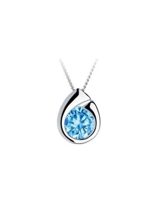 Bohemia Crystal strieborný prívesok Wispy s kubickou zirkonií Preciosa, modrý 5105 67 - 1