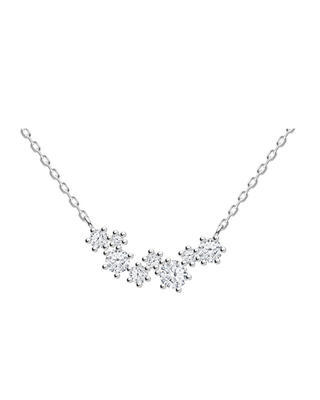 Bohemia Crystal Vela Silver Necklace with Cubic Zirconia Preciosa 5255 00