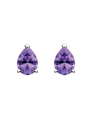Bohemia Crystal silberne Ohrringe Lyra mit kubischem Zirkonium Preciosa 5265 56