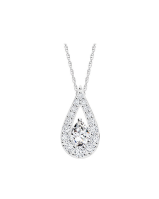 Bohemia Crystal silberner Anhänger Libra mit kubischem Zirkonium Preciosa Kristall 5242 00