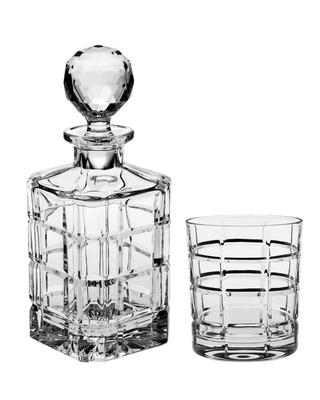 Bohemia Crystal Timesquare Whiskey Set (1 decanter + 6 whiskey tumblers)