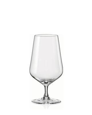Bohemia Crystal Biergläser Sandra 40728/380 ml (Set mit 6 Stück)