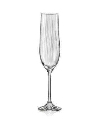 Bohemia Crystal Sklenice na šampaňaké Waterfall 190ml (set po 6ks)