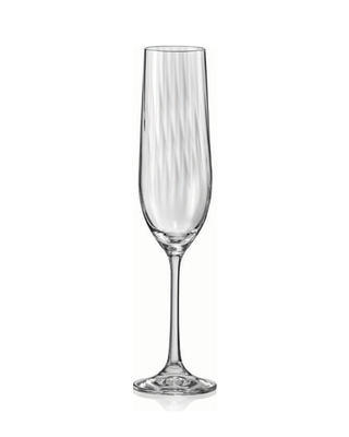Bohemia Crystal Waterfall Champagne Glasses 190ml (set of 6 pcs)