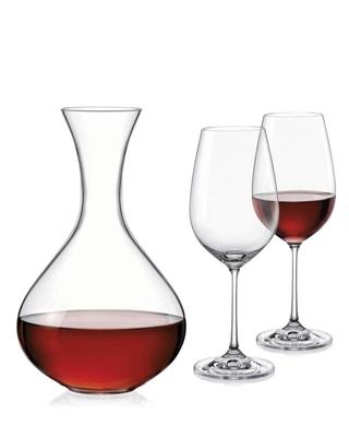 Bohemia Crystal Weinset Viola (1 Karaffe + 2 Gläser)