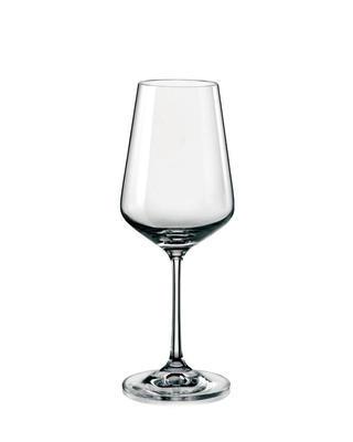 Bohemia Crystal Weingläser Sandra 40728/350 ml (Set mit 6 Stück)