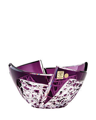 Bohemia Crystal Cut Bowl Fan 180mm - Purple