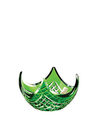 Bohemia Crystal Cut Quadrus Bowl 140mm - Green