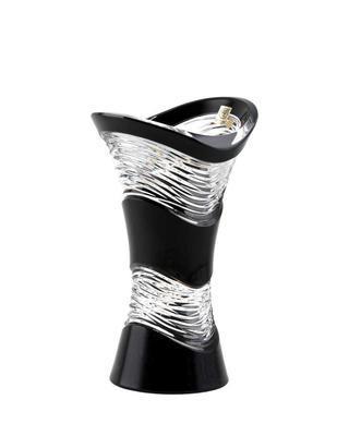 Bohemia Crystal Broušená váza Poem 255mm - černá