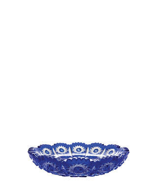 Bohemia Crystal Paula Cut Plate 146mm - Blue