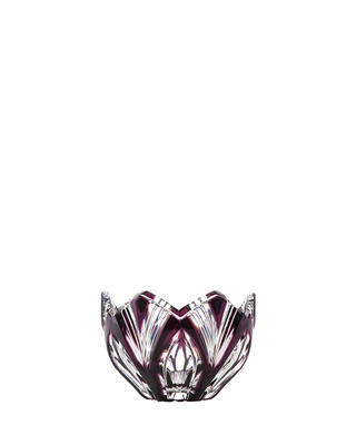 Bohemia Crystal Lotus Cut Bowl 85mm - Purple